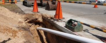 Acu-Comms HDPE Pipe Conduit being installed by directional drilling in Perth, Western Australia
