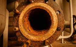 tuberculation corrosion in pipes