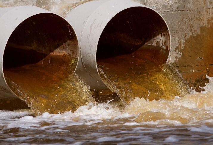 sewer outlet sewer sewer installation